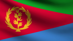 Eritrea Flag stock footage