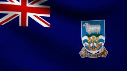 Falkland Islands flag Animation