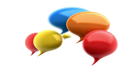 Colorful Speech bubbles Stock Video Footage