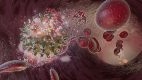 Virus Attacks Cells stock footage