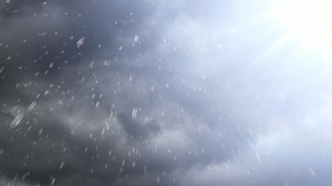 Sunny Rain Drops Stock Video Footage