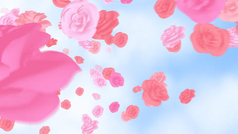 The rose which flies in the sky Animation