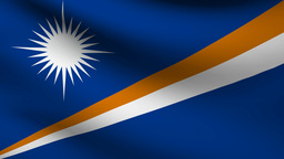 Marshall islands flag Animation