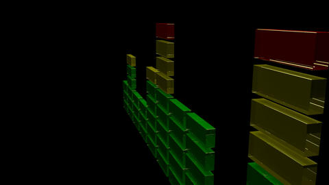 3d sound equalizer Stock Video Footage