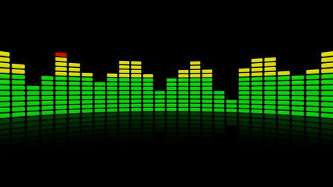 3d audio level equalizer reflection Animation