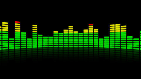 3d audio level equalizer reflection Stock Video Footage