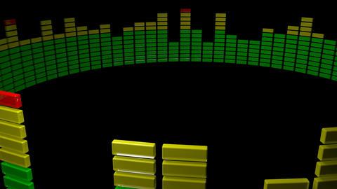 3d round audio level Stock Video Footage