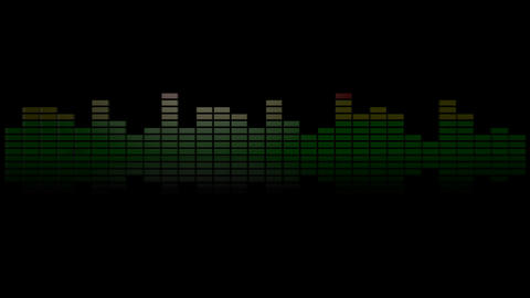 3d audio graphic meter reflection Stock Video Footage