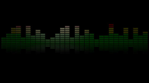 3d audio graphic meter reflection Animation