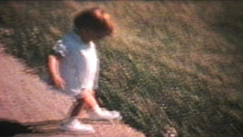 First Day Of School 1967 Vintage 8mm film Stock Video Footage