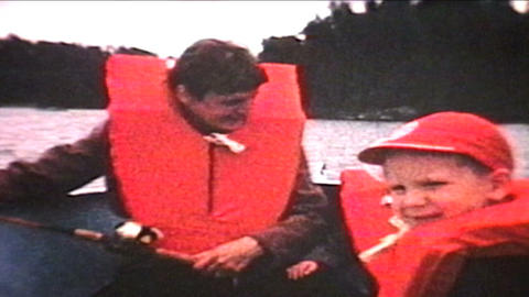 Mom Fishing With Kids 1966 Vintage 8mm film Stock Video Footage