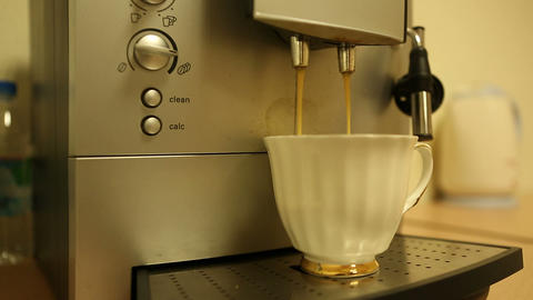 coffee machine 03 Stock Video Footage