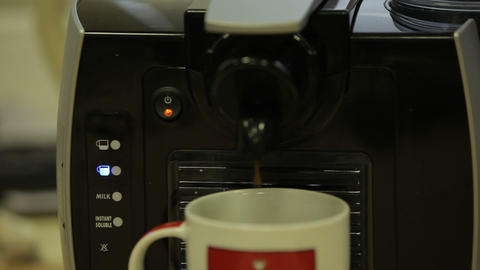 coffee machine 09 Stock Video Footage