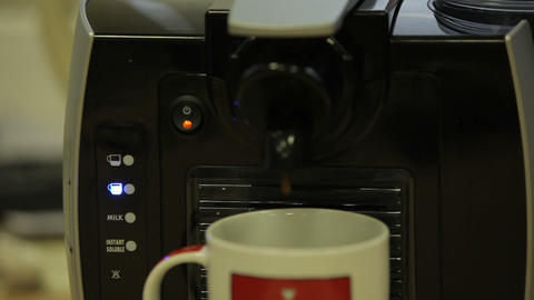 coffee machine 09 Footage