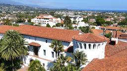 Beautiful Santa Barbara sightseeing Footage