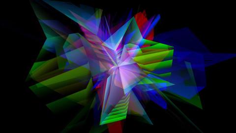 RGB Crystals Footage