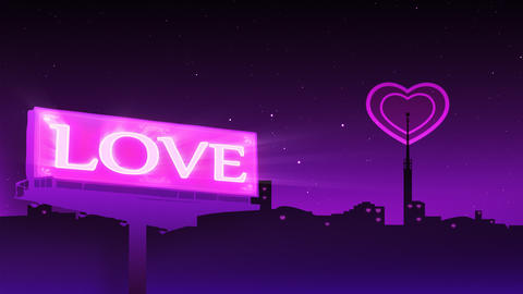 Love released to air. Heart shape emission Footage