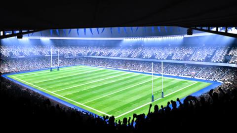 Flashing stadium lights Animation