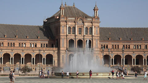 Spanish Palace And Water Fountain Live Action