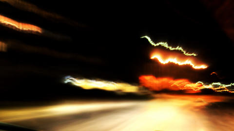 Fast car driving at night Footage