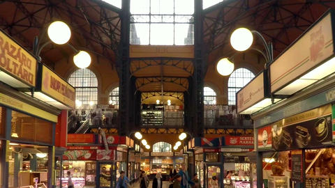 The central market in Budapest Footage