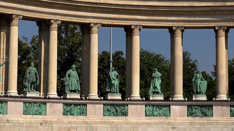 Heroes Square in Budapest Footage
