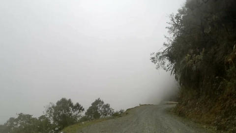 El Camino de la Muerte - The Death Road in Yungas Region, Northeast of La Paz, B Footage