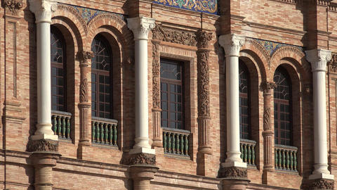 Windows And Columns Of European Architecture Footage