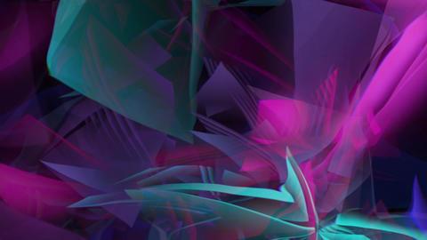 Floating polar crystals backround Animation