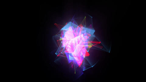 Holographic crystals and wireframes Animation