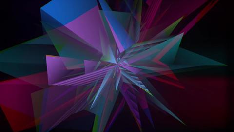 Colorful Dacing Polar Crystal Animation