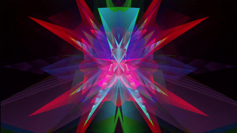 Colorful Ice Cristals hypnotic structure Animation