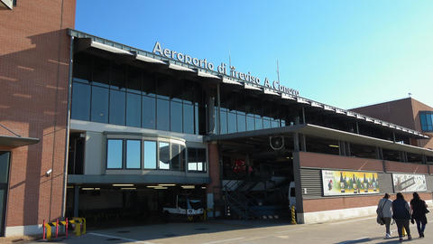 Venice Treviso airport in Italy Live Action