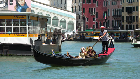 Gondola ride in Venice - the ultimate tourist attraction Footage