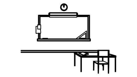 Classroom whiteboard animation 4K footage Live Action