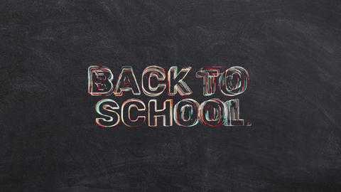 Animation With Back To School Text GIF
