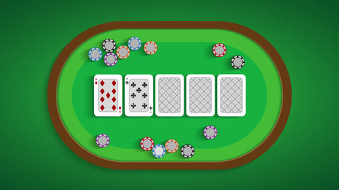 Poker table with a combination of nine low Live Action