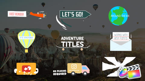 Adventure Titles Apple Motion Template