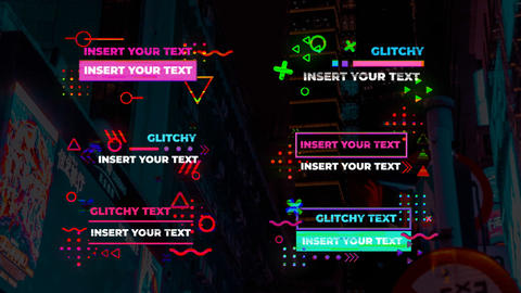 Stylich Glitch Lower Thirds Motion Graphics Template