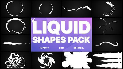 Liquid Shapes Pack Premiere Proテンプレート