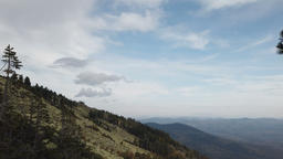 Mountain landscape with clouds. Mountain slopes Footage
