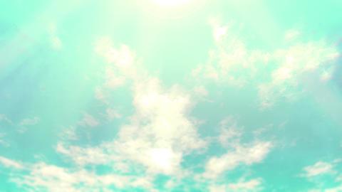 Mov148 cloud flare sky loop 07 CG動画