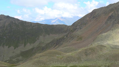 View mountains scenes in national park Dombay, Caucasus, Russia, Europe Live Action