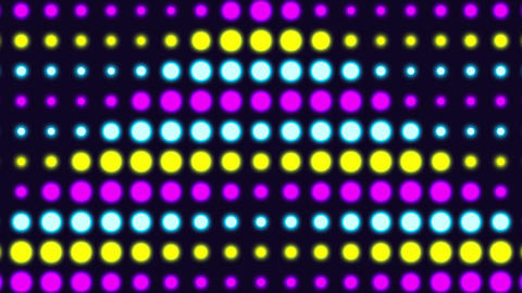 Neon Retro Wave Pattern Background