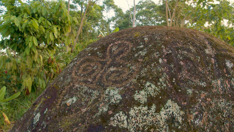 Sacred Stones With Inscriptions In An Indigenous Community Live Action