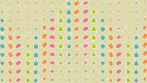 4K Cartoon Cute Vector Christmas elements on looped background with Alpha Channel wishing you A Very CG動画
