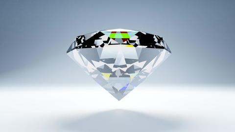 Diamond on white background CG動画