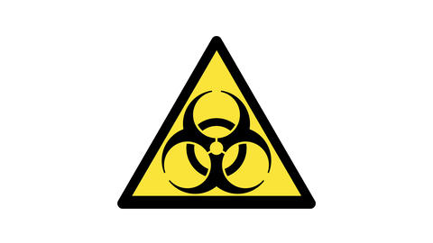 animated biohazard symbol Live Action