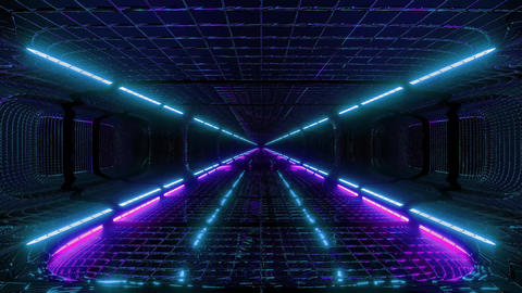 futuristic fantasy scifi wireframe tunnel building 3d rendering live wallpaper Animation