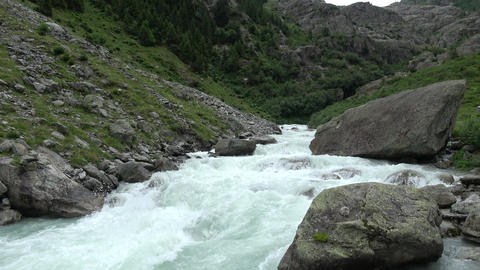 View river scenes in mountains, national park Switzerland, Europe Live Action
